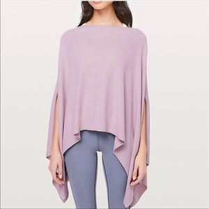 Lululemon Purple Forward Flow Cape Sweater Poncho